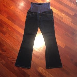Full panel maternity jeans-sexy boot cut